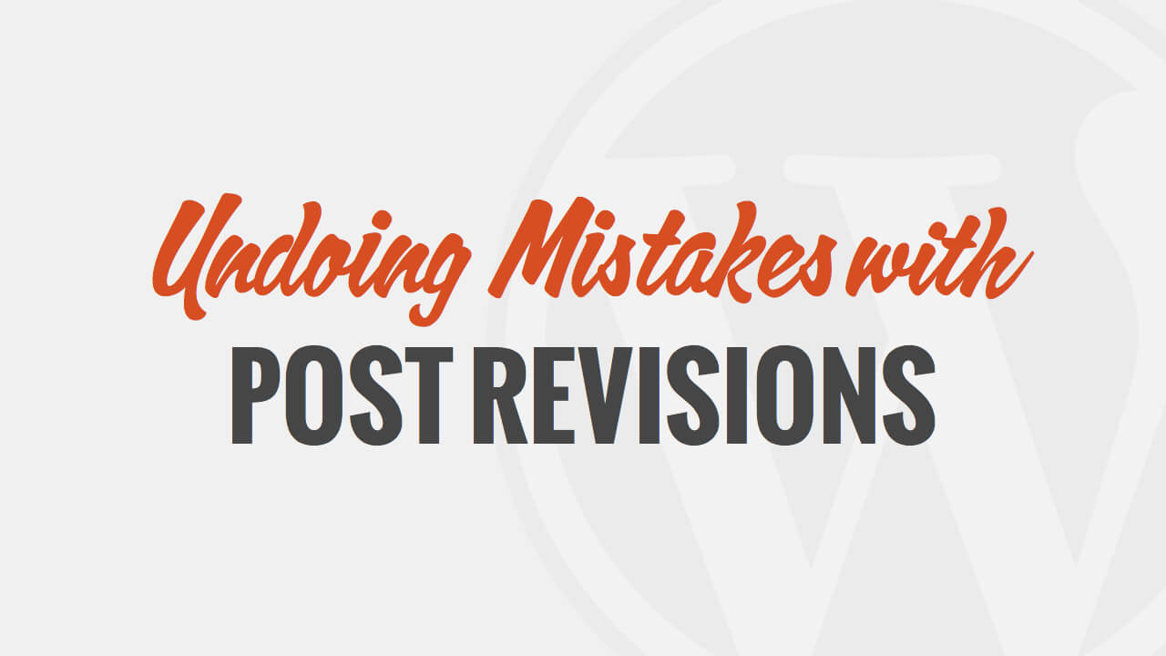 Undoing Mistakes with Post Revisions