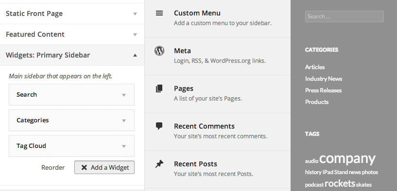 Live Widget Editing in WordPress 3.9