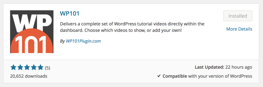 New plugin preview in WordPress 4.0