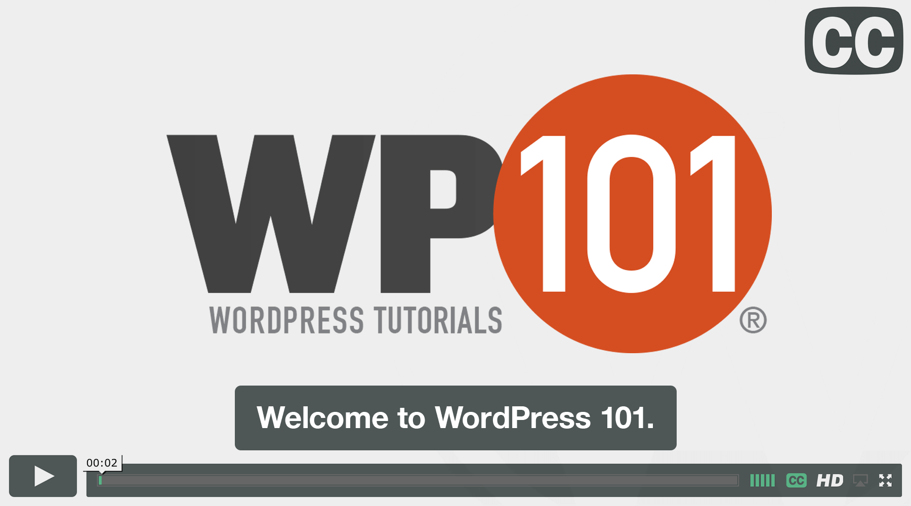 Closed Captioned WordPress Video Tutorials from WP101.com