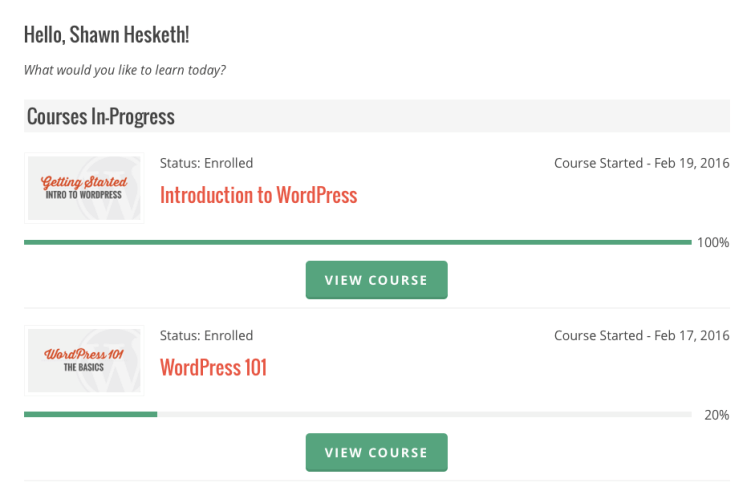 WP101 Courses in Progress