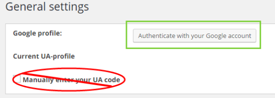 monsterinsights plugin authenticate not manual