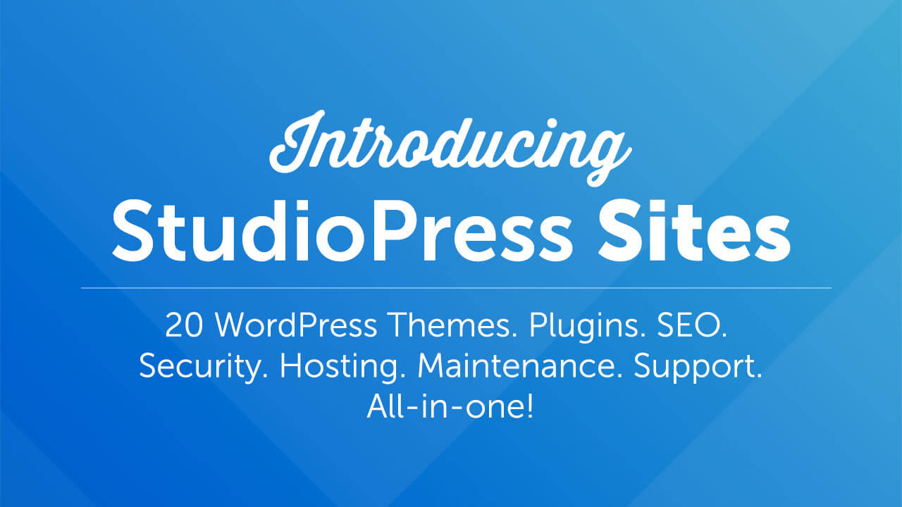 StudioPress Sites: Hosting + Themes Included