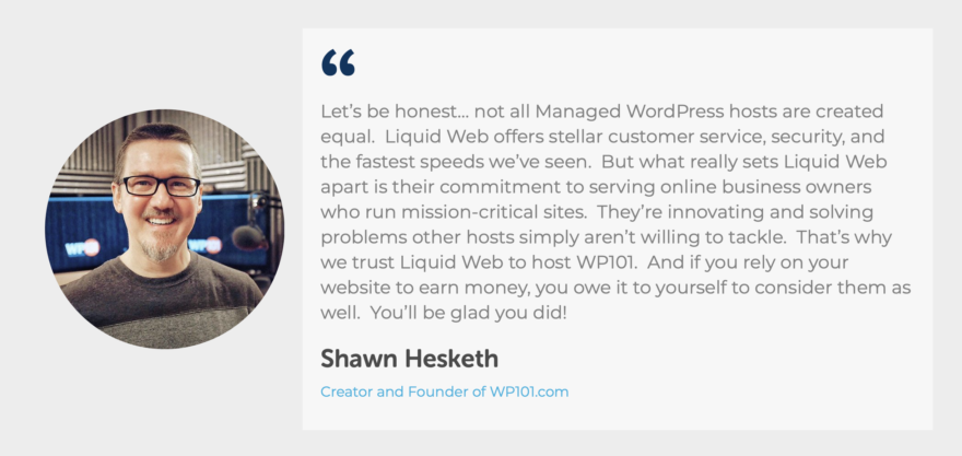 Shawn Hesketh on Liquid Web