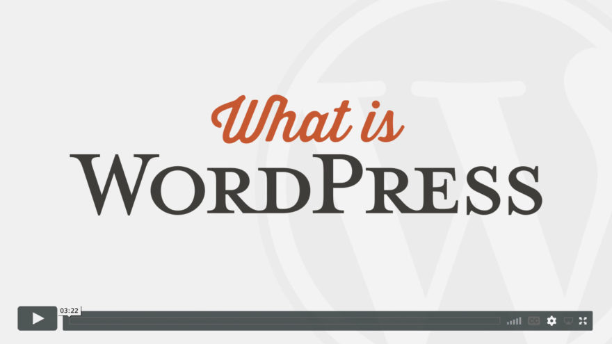 What is WordPress Tutorial Video