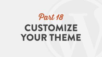 Customize Your Theme in WordPress 5.0
