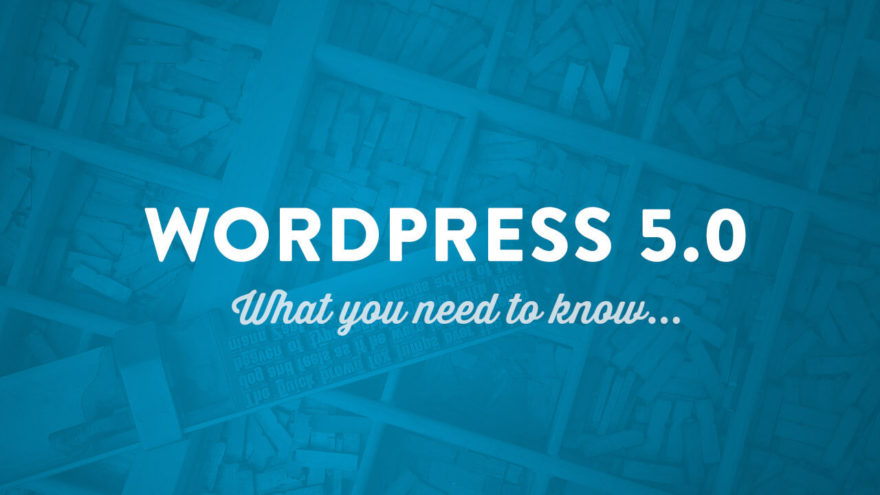 WordPress 5.0 Announcement Featured Image