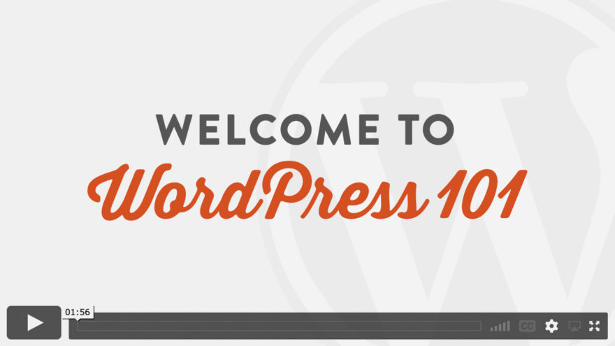 Welcome to WordPress 101