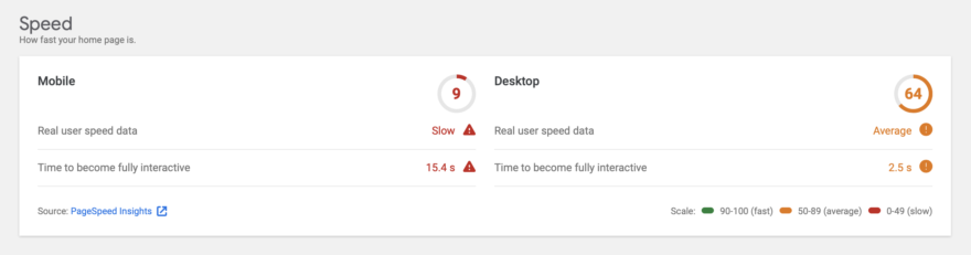 WP101 Page Speed Test Before Activating WP Rocket