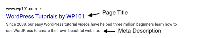 Sample Google Listing